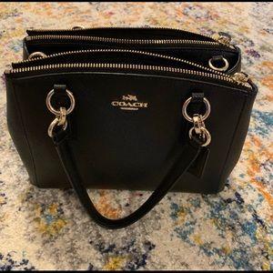 Coach purse (Black) leather